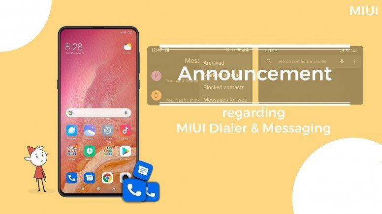 В MIUI появятся Google Phone и Messages-FoneArena