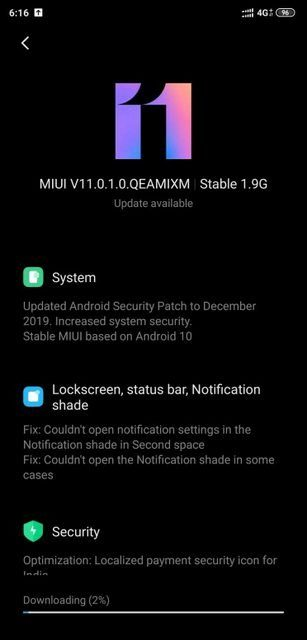 Не забыли - Xiaomi Mi 8 получил MIUI 11 c Android 10
