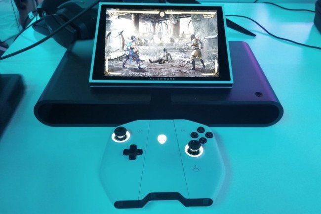 новая игровая консоль-ноутбук на Windows 10 - Dell Alienware UFO_2