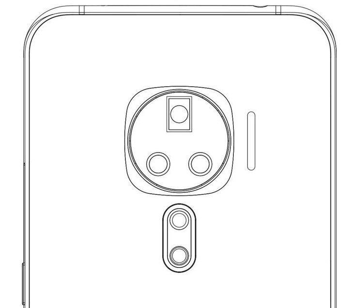 Патент смартфона Vivo удивил расположением тыльных камер _ 2
