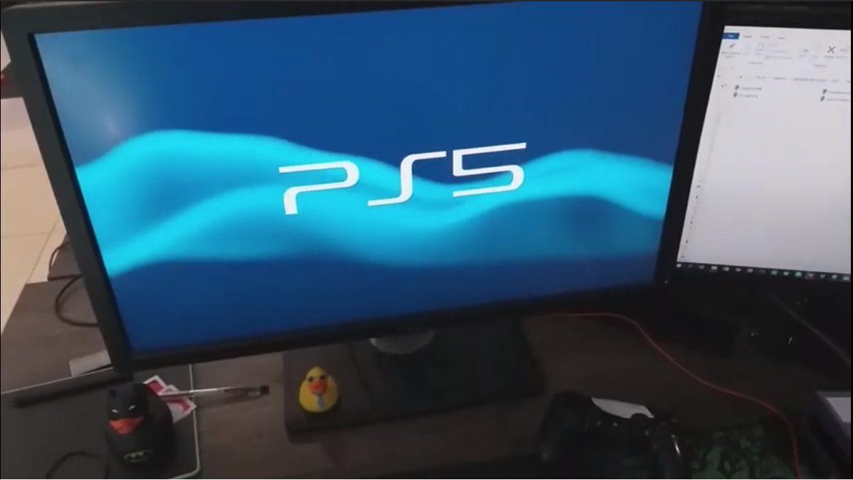 Реальная PlayStation 5 на видео