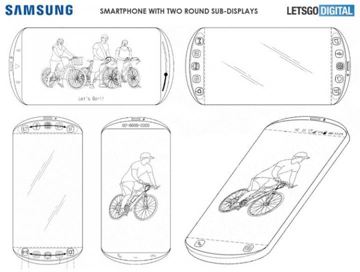 Samsung создает скругленный смартфон с тремя секциями экрана - патент
