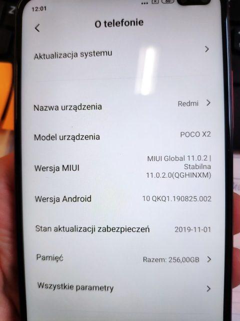 скриншот 4 прошивки для Poco X2 - это Redmi K30 4G для глобального рынка
