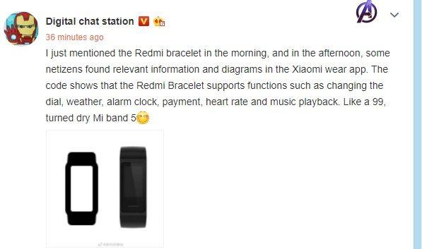 Сообщение инсайдера по поводу первого фитнесс-трекера Redmi