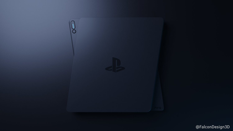Высококачественная 3D-модель дизайна PlayStation 5