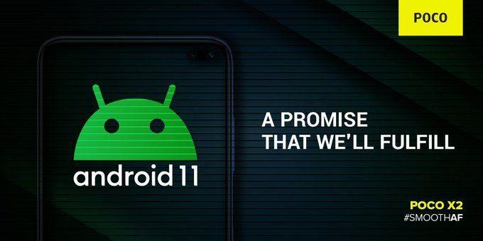 Android 11 получит Poco X2