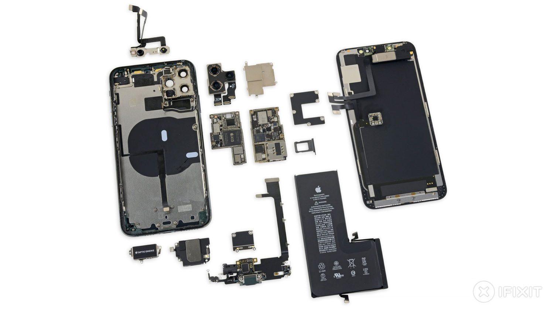 iPhone 11 Pro Max - компоненты внутреннего устройства смартфона