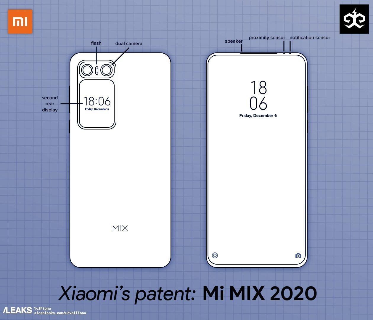 Патентные чертежи Xiaomi Mi Mix 4 раскрыли уникальные решения