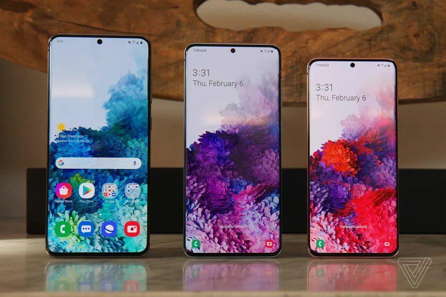 Представили серию Samsung Galaxy-S20
