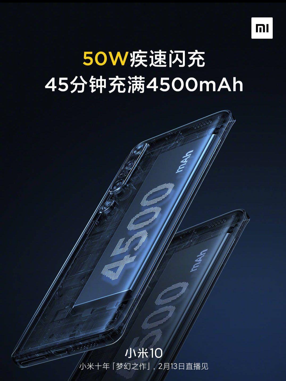 Xiaomi Mi 10 аккумулятор и сетевой адаптер