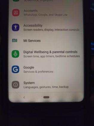 Mi A2 Lite после обновления до Android 10
