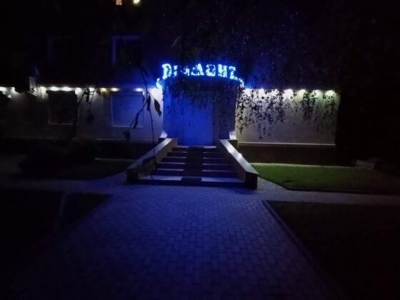 Ночной снимок на ультраширокоугольную камеру