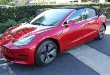Кабриолет Tesla Model 3