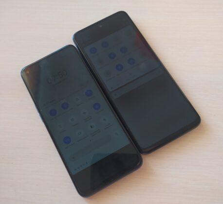 Минимальная яркость у обоих смартфонов приблизительно одинакова
