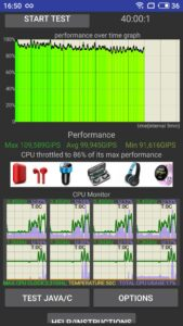 Тест на троттлинг Meizu 15 Plus