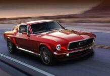 Старенький Ford Mustang превратили в новый электромобиль