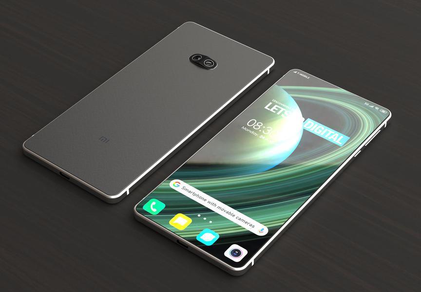 Инновационное решение на рендерном изображении смартфона Xiaomi