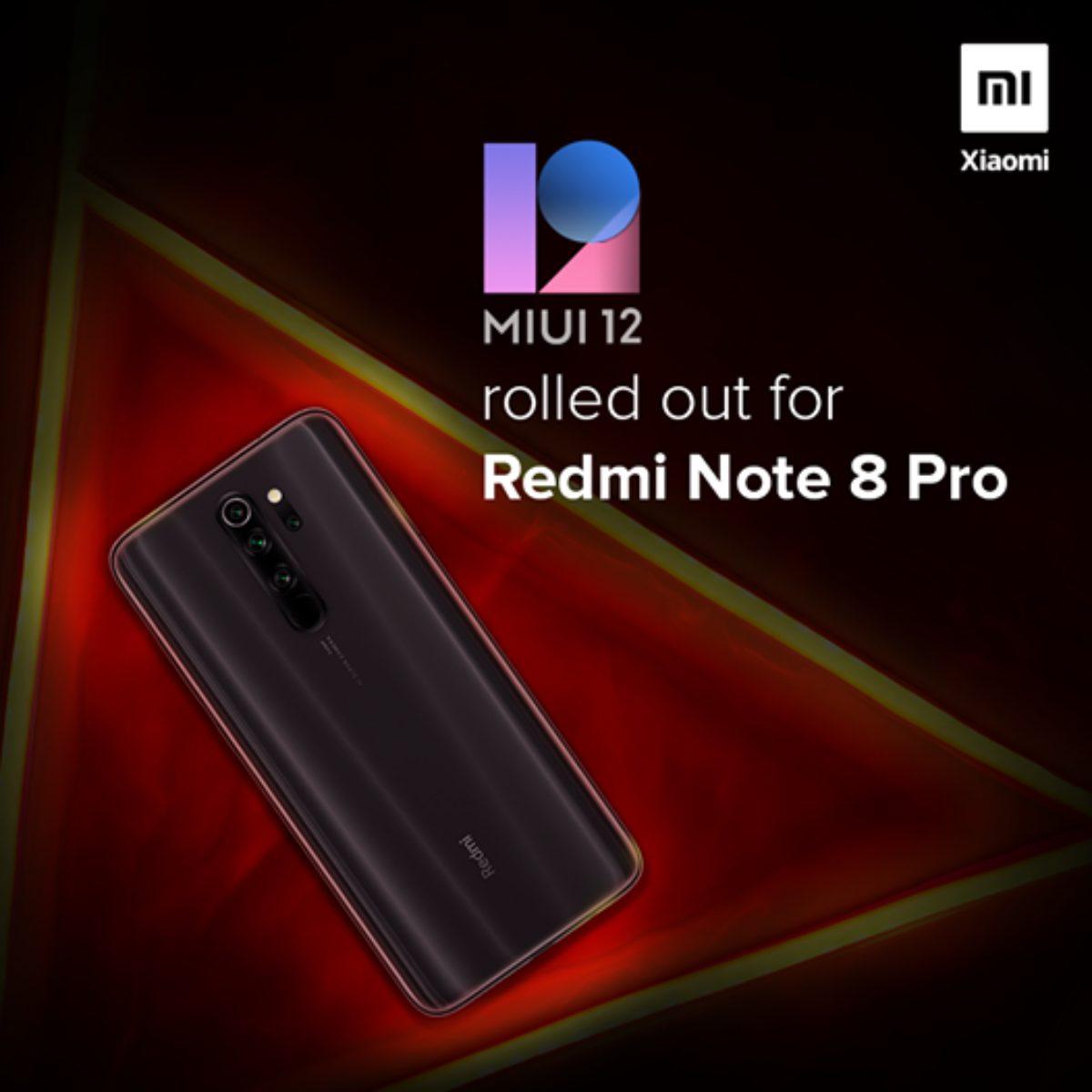Redmi Note 8 Pro начал получать обновление до стабильной MIUI 12
