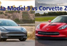 Tesla Model S против Corvette Z51