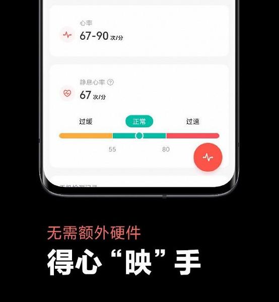 Смартфоны на MIUI 12 определяют ритм сердечных сокращений без дополнительных датчиков