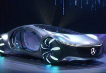 Невероятный концепт Mercedes-Benz Vision AVTR неожиданно показали в движении