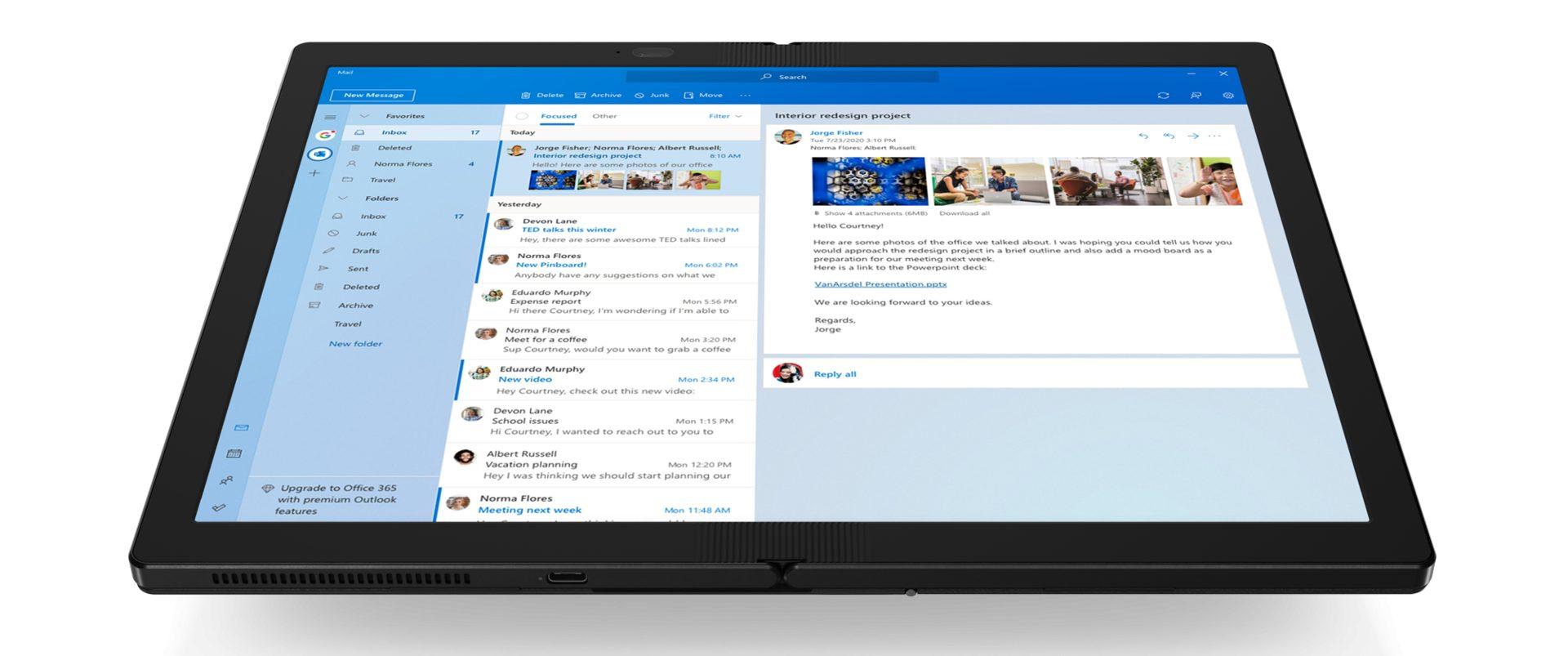 Lenovo выпустит первый ноутбук с гибким экраном в конце октября – ThinkPad X1 Fold