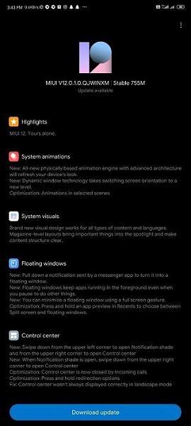 Владельцы Redmi Note 9 Pro получили обновленную операционную систему MIUI 12
