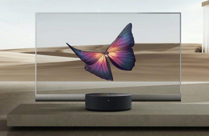 Вслед за телевизором, Xiaomi готовит к выпуску еще и прозрачный монитор