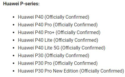 69 смартфонов Huawei получат прошивку EMUI 11 вместе с Android 11