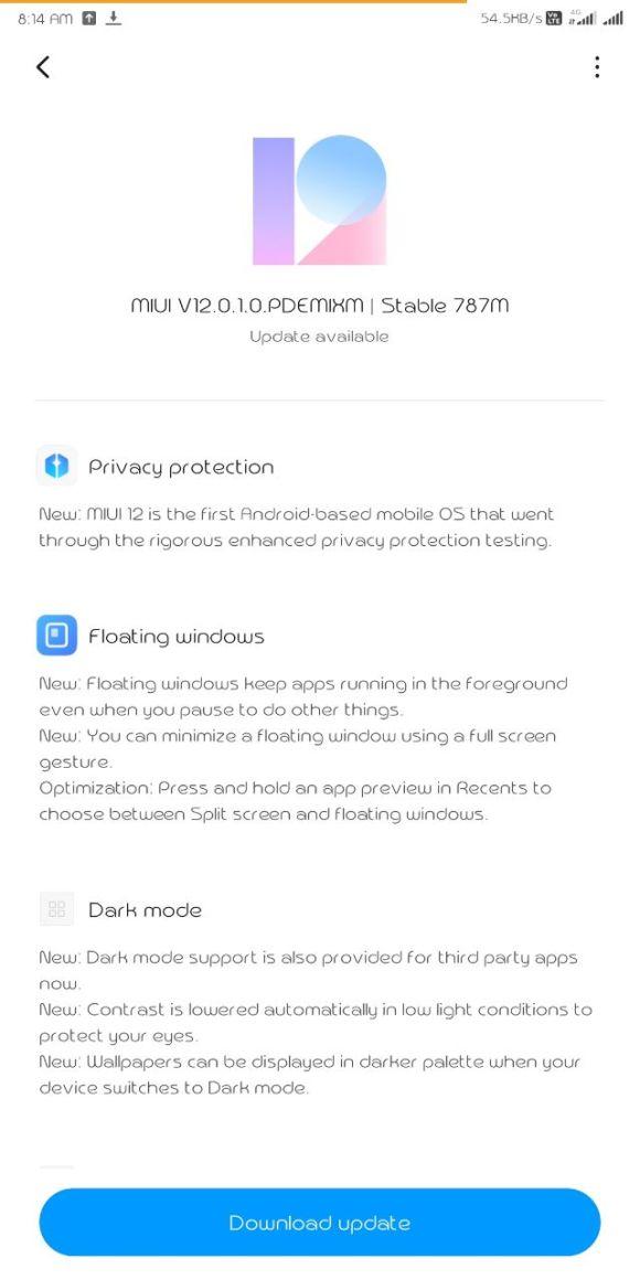 На очередной смартфон Xiaomi «прилетела» глобальная версия MIUI 12