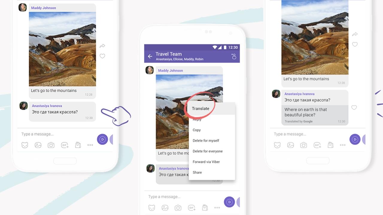 Восемь малоприметных, но полезных функций Viber - встроенный переводчик
