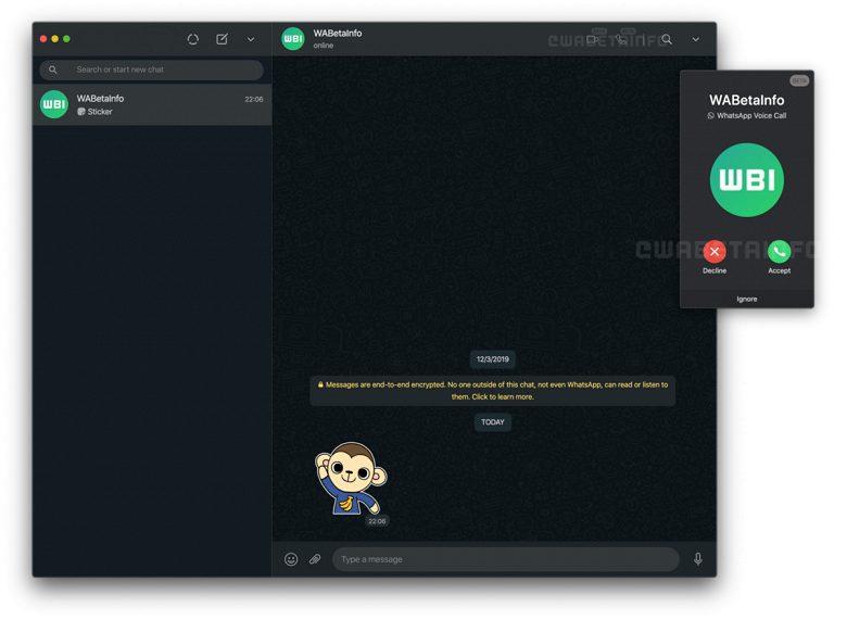 WhatsApp научился поддерживать видеозвонки на ПК