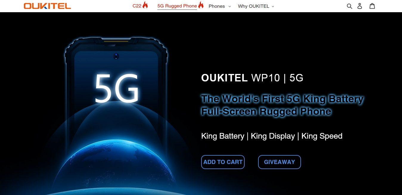 Китайская компания Oukitel представила самый производительный в истории 5G-смартфон