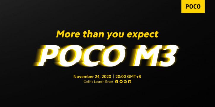 Слитые характеристики POCO M3 указывают на то, что он будет улучшенной версией Redmi Note 10