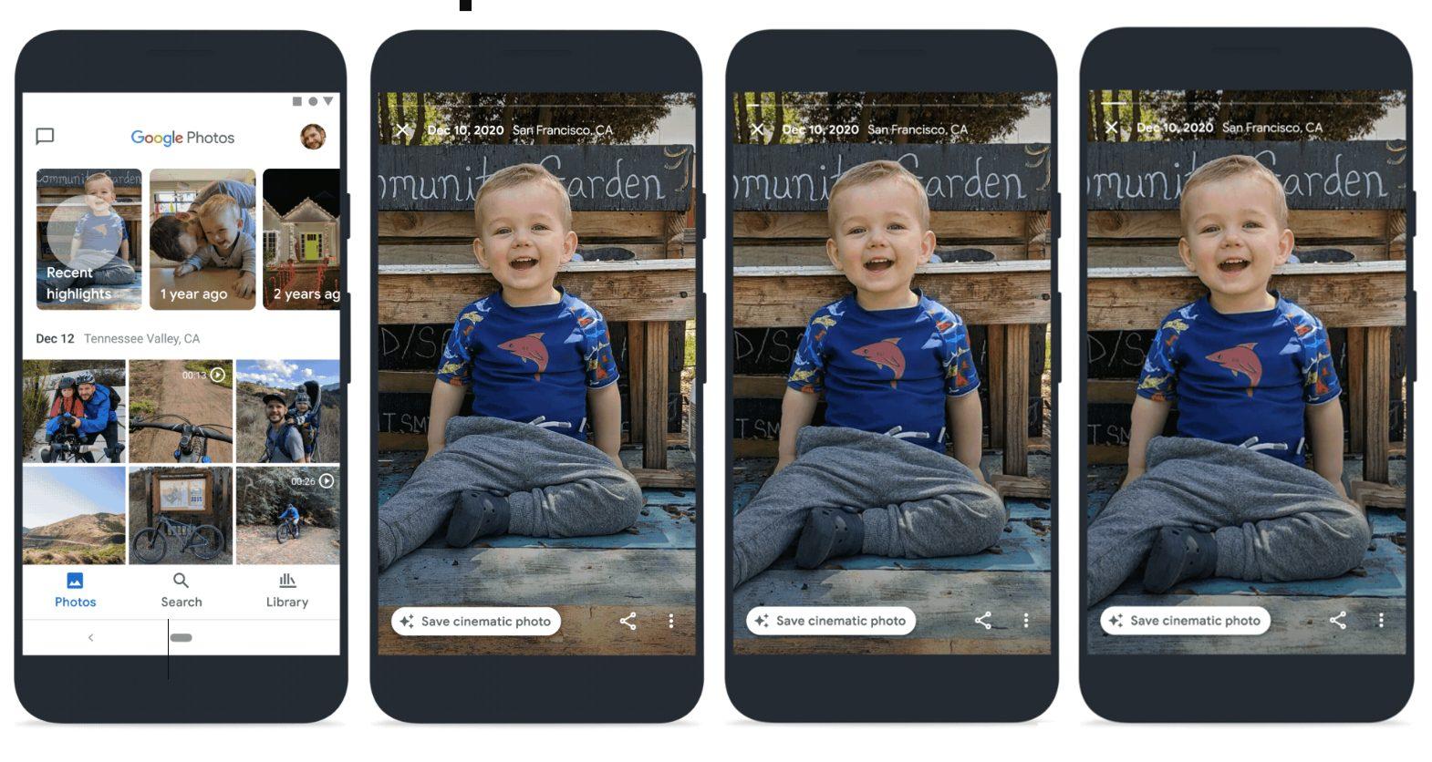 Google Фото пополнится функцией «Кинематографическое изображение» и возможностью оградить пользователя от неприятных воспоминаний