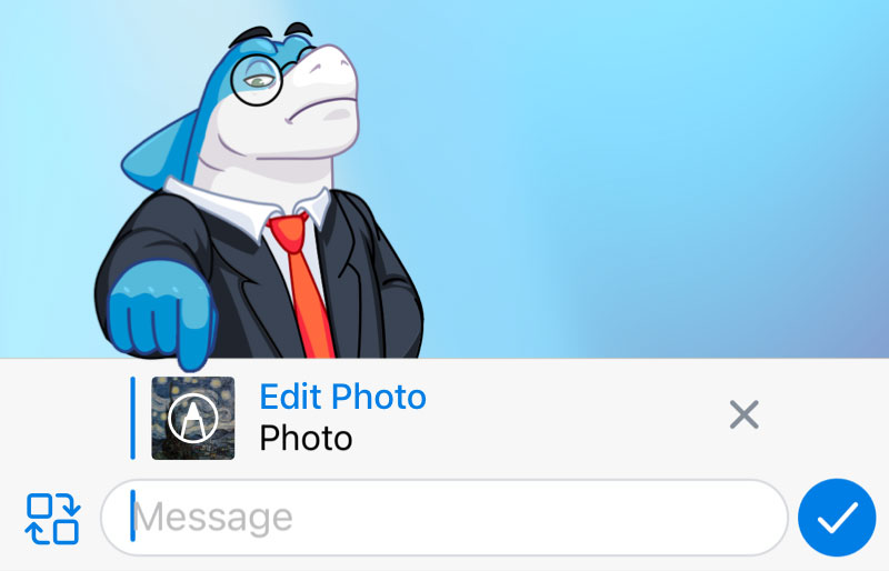 Финальное обновление Telegram этого года добавило встроенный редактор фотографий