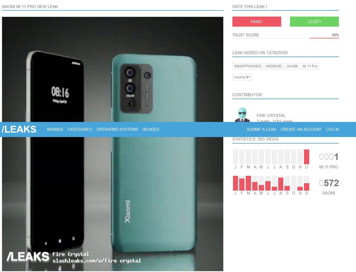 В Сеть утекли снимки Xiaomi Mi 11 Pro
