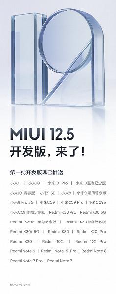 Китайцы начали тестирование улучшенной MIUI 12.5