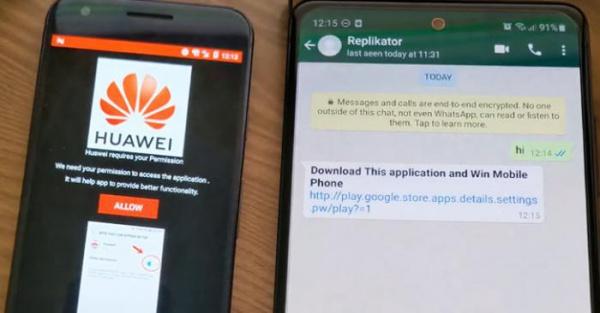 WhatsApp и поддельное приложение Huawei используются для заражения устройств на Android