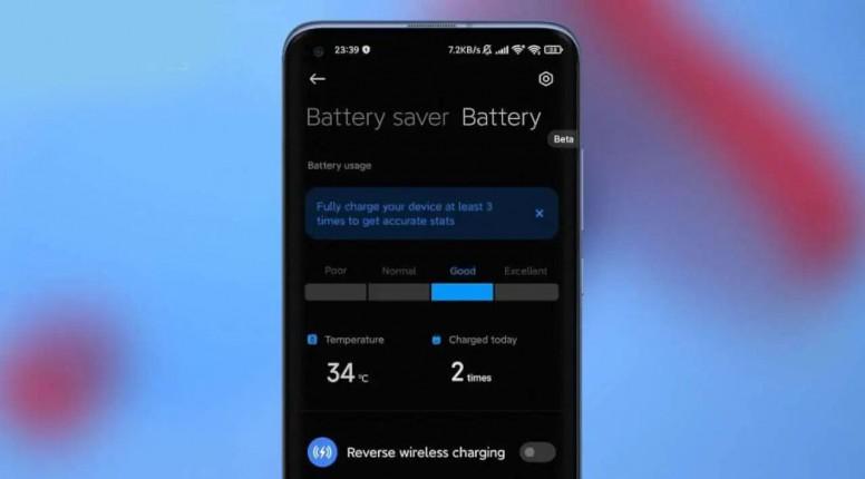 В MIUI 12.5 появится раздел для отслеживания состояния аккумуляторной батареи