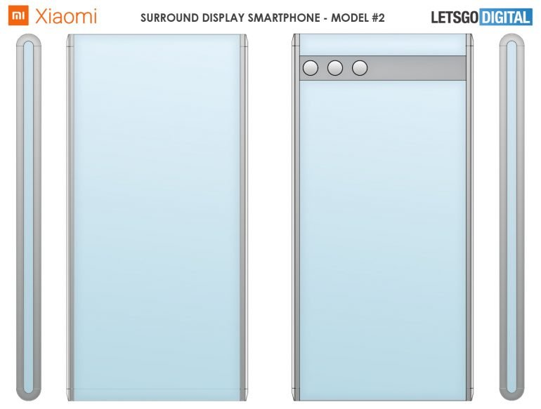 Xiaomi запатентовала два смартфона с опоясывающими экранами