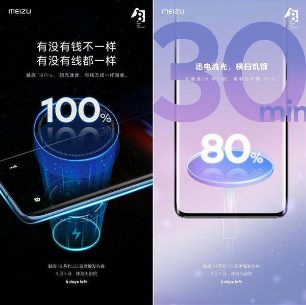 Характеристики зарядки Meizu 18