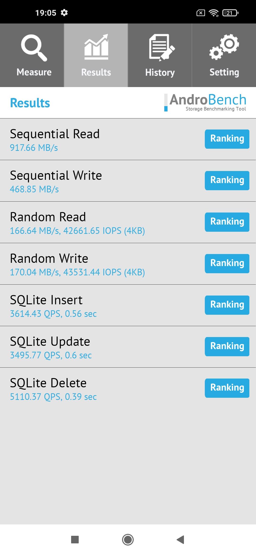 Тест накопителя Realme 7