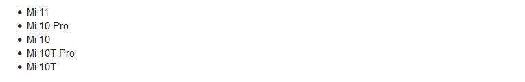 Список смартфонов Xiaomi и Redmi, которые первыми получат MIUI 12.5
