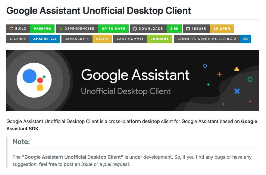 Виртуальный подсказчик Google Assistant синхронизировали с Windows, Linux и macOS