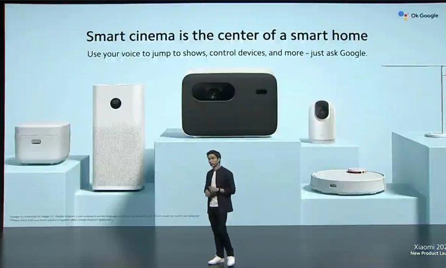 Xiaomi представила Mi Smart Projector 2 Pro со встроенным Google Assistant и яркостью в 1300 люмен