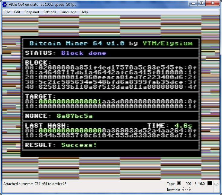 Энтузиасты научились майнить Bitcoin на компьютере 1982 года