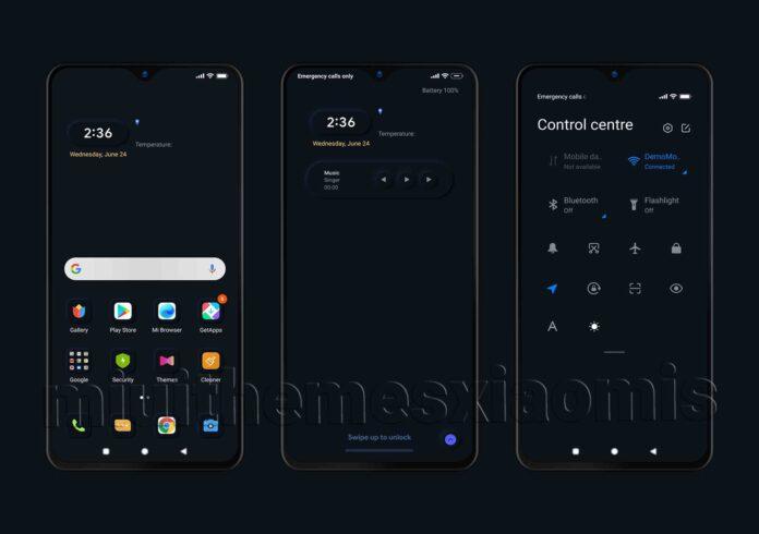 В MIUI 12 появилась новая тема, которая повышает автономность смартфонов Xiaomi