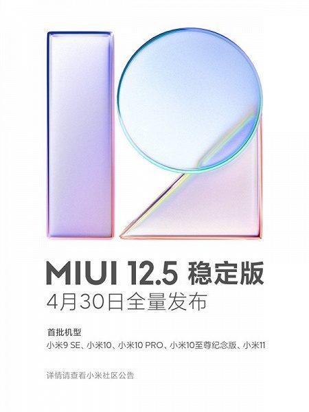 Названа дата официальной презентации MIUI 12.5