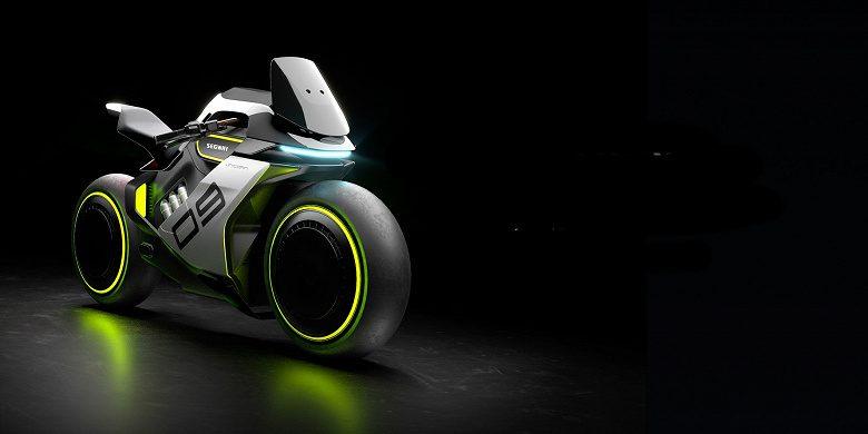 Компания Segway Ninebot показала концепт гибридного мотоцикла на водородно-электрической тяге